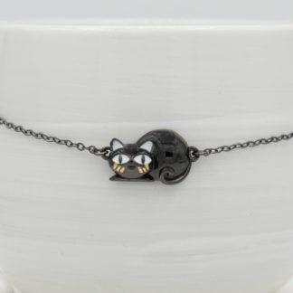 Bratara neagra cu pandantiv Pisica Neagra-1 (2)