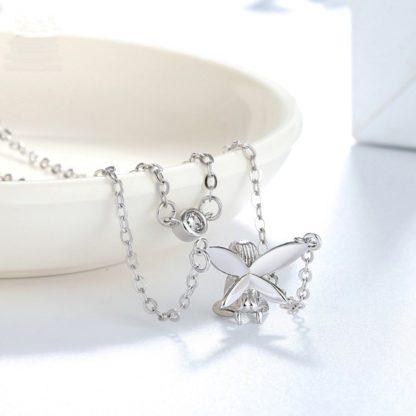 Colier cu lant dublu de argint Forest Fairy (7)