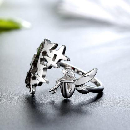 Inel lat de argint Forest Fairy (3)
