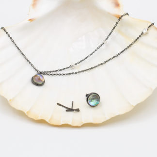Set de bijuterii de argint negru Andromeda