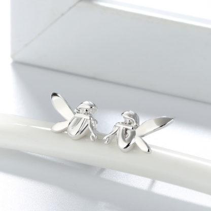 Cercei de argint stud Forest Fairy