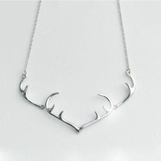 cerb Colier de argint cu pandantiv minimalist Majestic