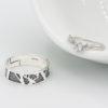 cerb-Inele cuplu de logodna cu model 3D si cristal Majestic
