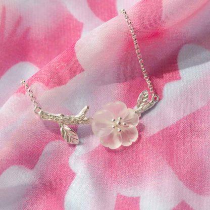 bratara argint floare de sticla (3)