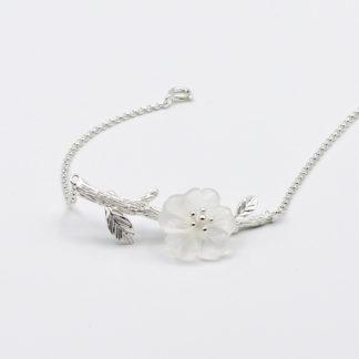 bratara argint floare de stilca