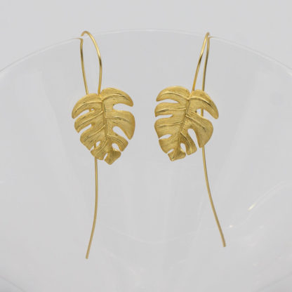 cercei din argint gold leaf- (4)