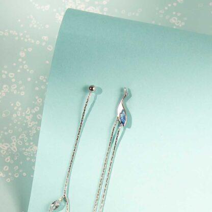 Cercei argint extra lungi tip lantisor Barza