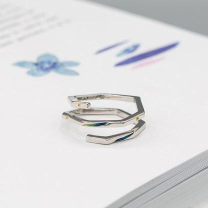 inel spirala minimalist din argint Geometric (2)