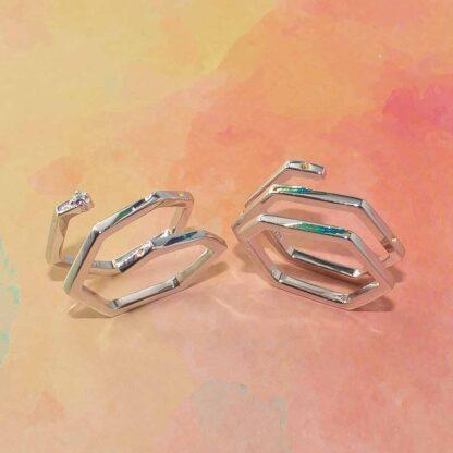 inel spirala minimalist din argint Geometric