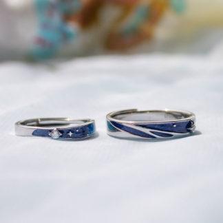 inele verigheta reglabile albastru Neptun