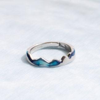 inel din argint reglabil wave 2