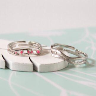 Inele pereche din argint delicate