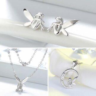 set Lantisor si cercei din argint Forest Fairy (3)