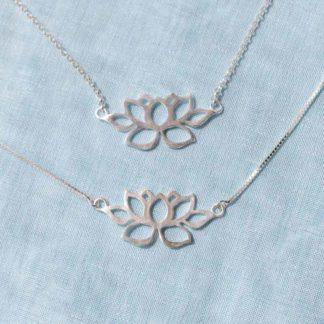 Set colier si bratara din argint Lotus