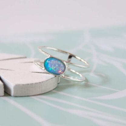 inel din argint cu opal albastru (4)