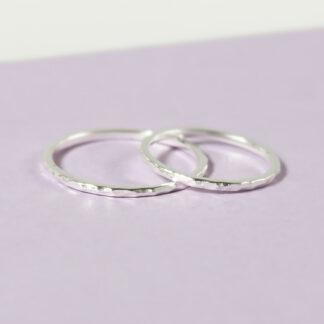 set inele din argint minimaliste