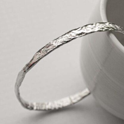 Bratara fixa subtire din argint, Aluminium