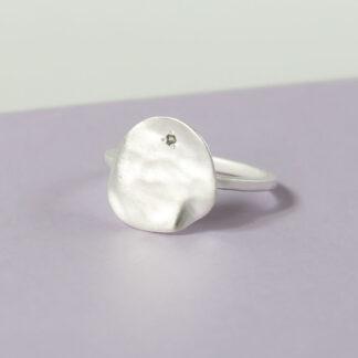 bijuterii Inel argint cu textura satinata, minimalist Satin (4)