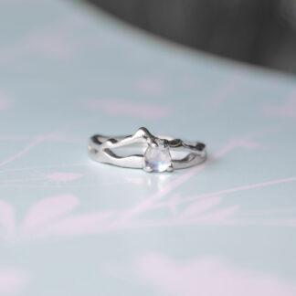 Inel de logodna de argint, cu cristal, Printesa-2