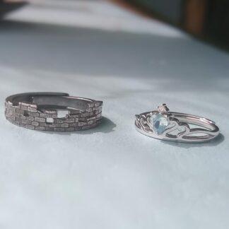 Set inele din argint pentru cuplu, Povestea noastra-2