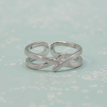 Inele cuplu minimaliste din argint, ajustabile, Nod (7)