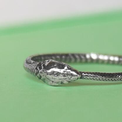 Inel handmade din argint sarpe Uroborus