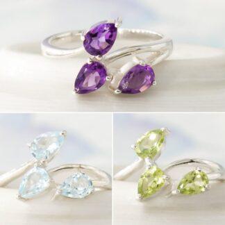 Inel de argint cu 3 pietre semipretioase, Clio (3)
