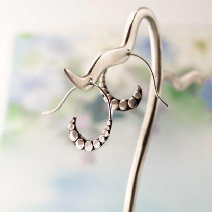 Cercei argint spirale cu buline, Crescendo