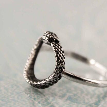 Inel de argint sarpe Uroborus