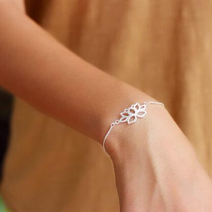 bratara din argint fina lotus-3