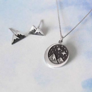 Set de bijuterii cu munti din argint, Escape