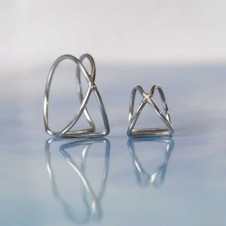 Set ear cuffs argint pentru helix & conch, Simple (3)